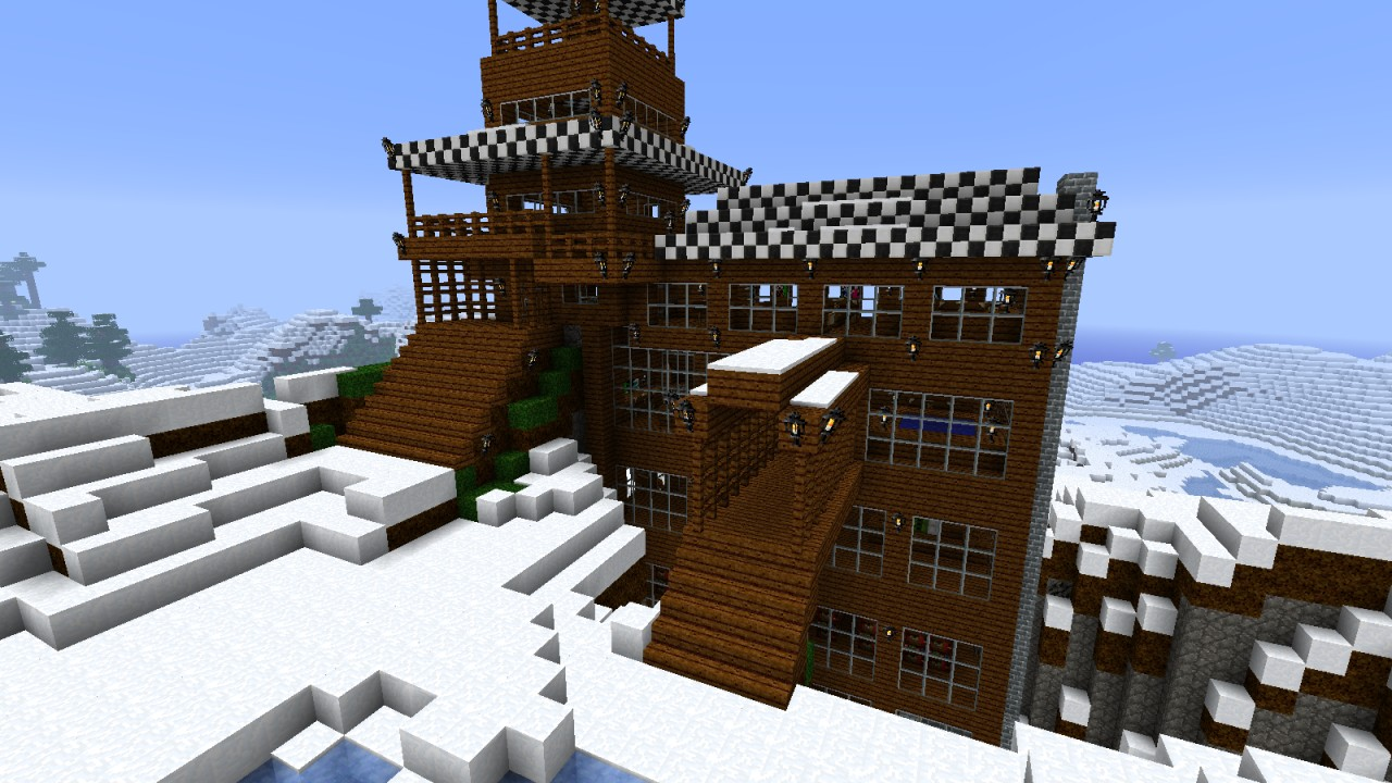 Winter Mountain Home Minecraft Project