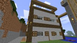 2story house. wood with wool. beautiful Minecraft Map & Project