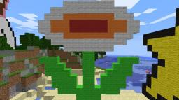 Super Mario Bros. - Fire Flower Minecraft