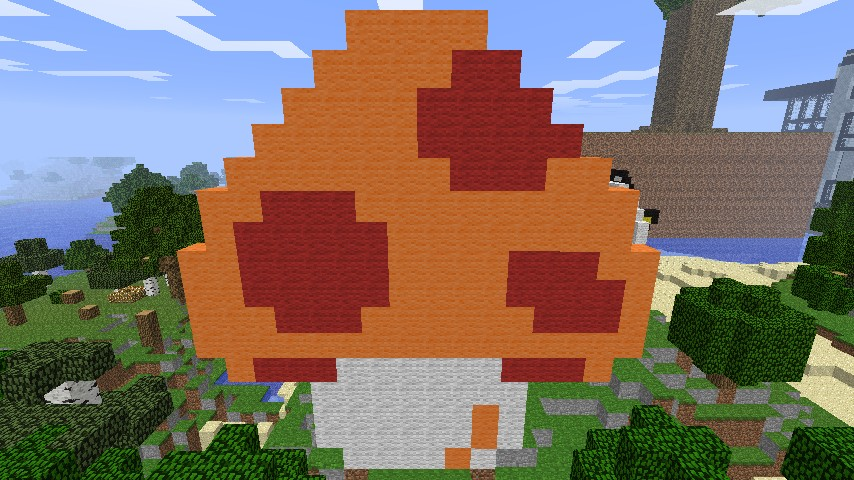 Super Mario Bros Mushroom Minecraft Project
