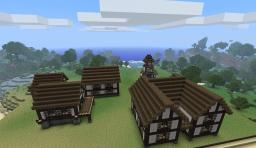 Tudor Houses with real wood Minecraft Map & Project