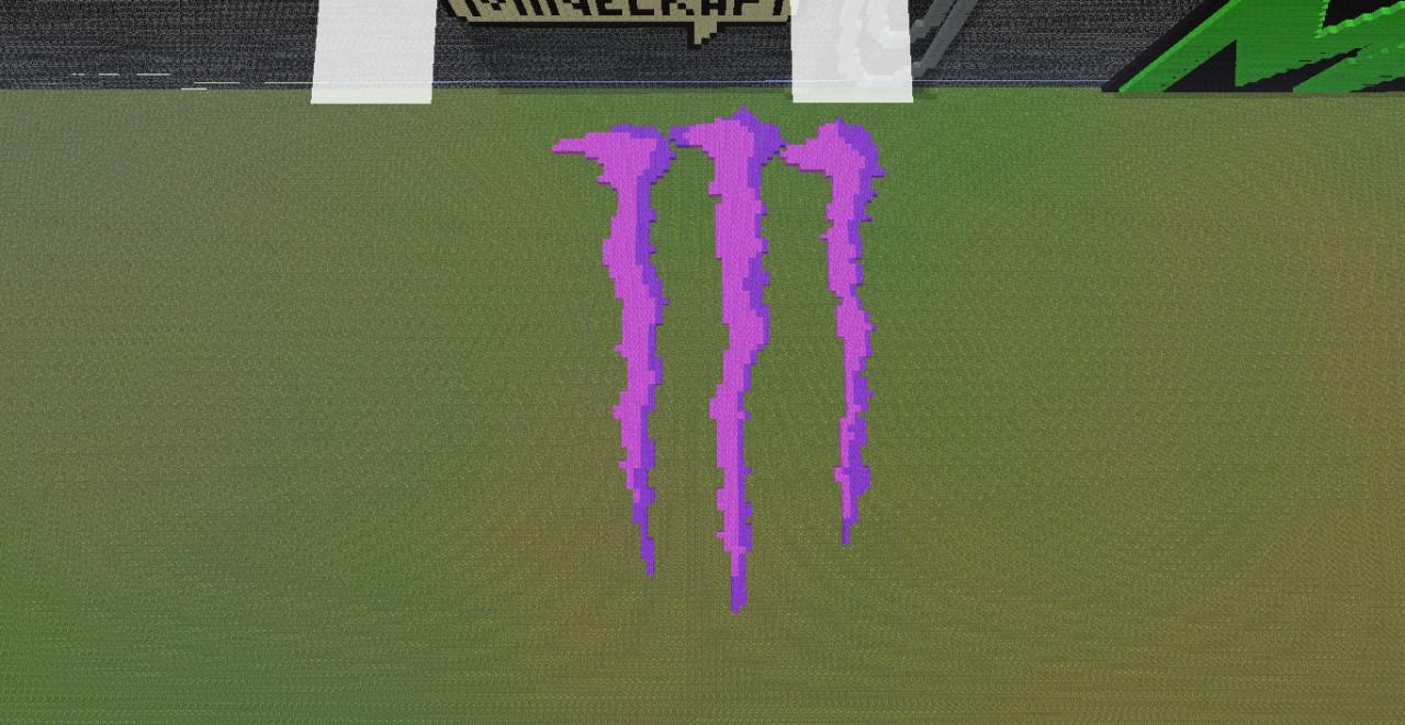 Monster Energy Logo Minecraft Project  Monster