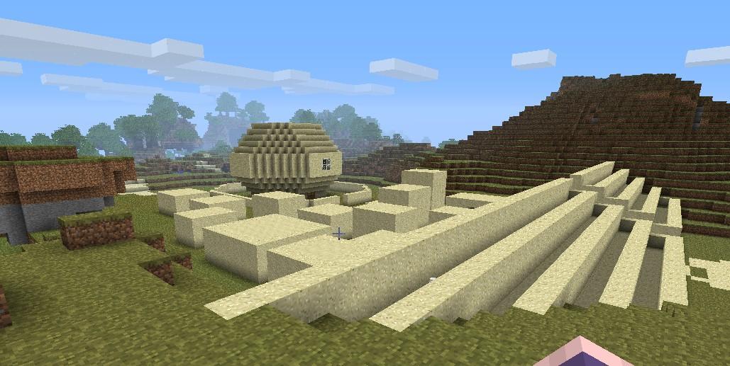 how to make a sand village in minecraft