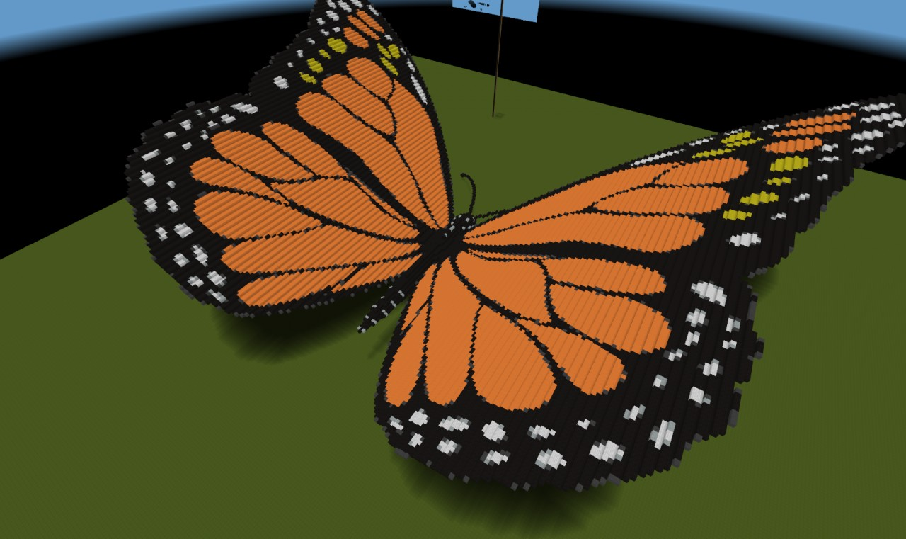 how to catch a butterfly in minecraft