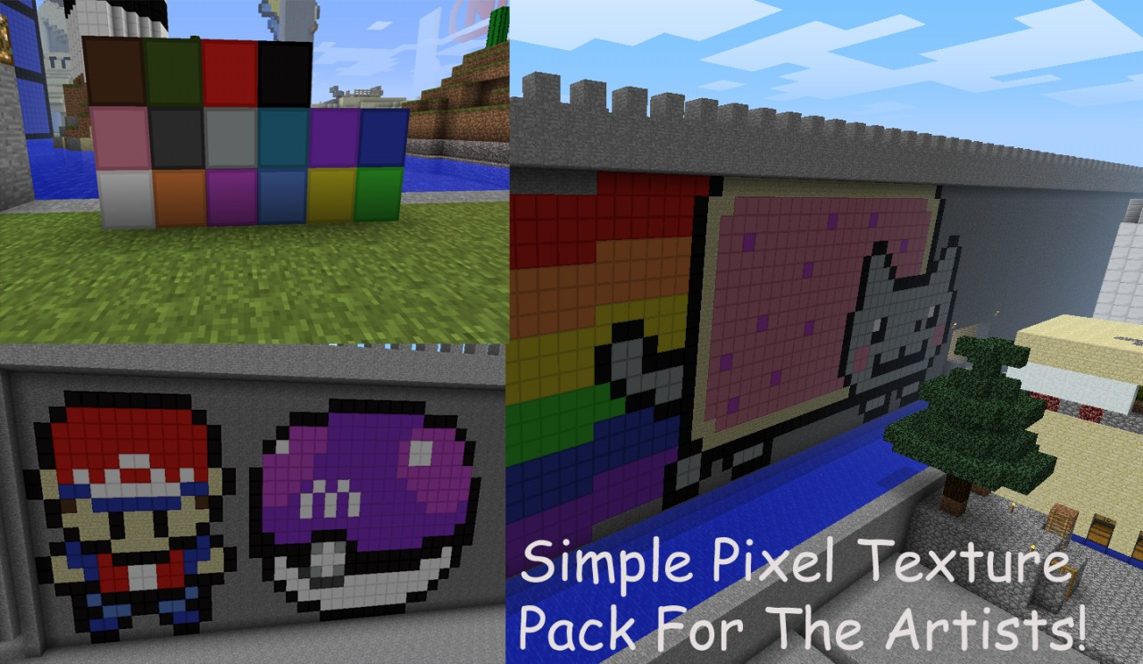 16x Simple Pixel The Texture Pack For Pixel Artists Mc 1 4 2 Minecraft Texture Pack