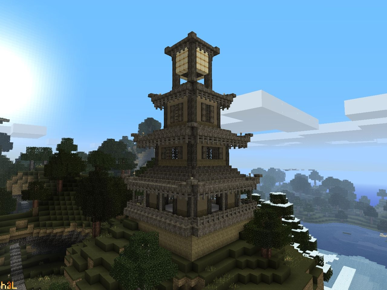 Lighthouse Pagoda Minecraft Project