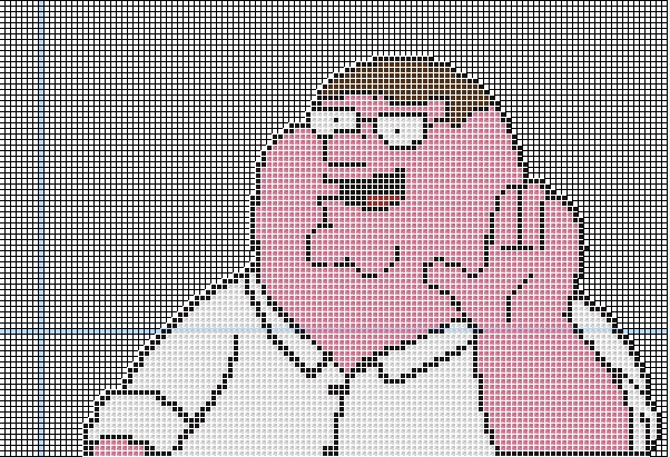 Peter Griffin Pixel Art Minecraft Project