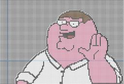 Peter griffin pixel art Minecraft Map & Project