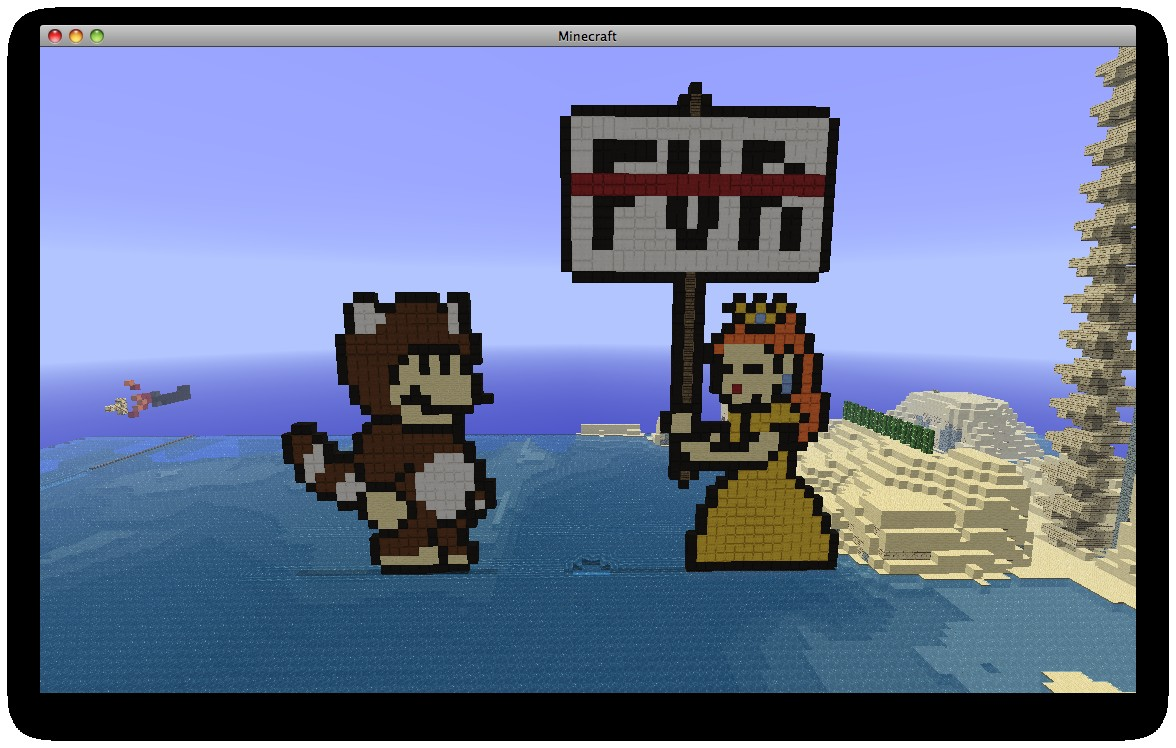 Pixel Art 6 Mario And Peach Funny Sprite Minecraft Project