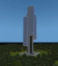 Singapore Residential Tower and Mob Farm Minecraft Project