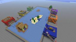 """Minecraft Arena for BOTH """"Clay Soldier Mod"""" and PVP Minecraft Map & Project"""