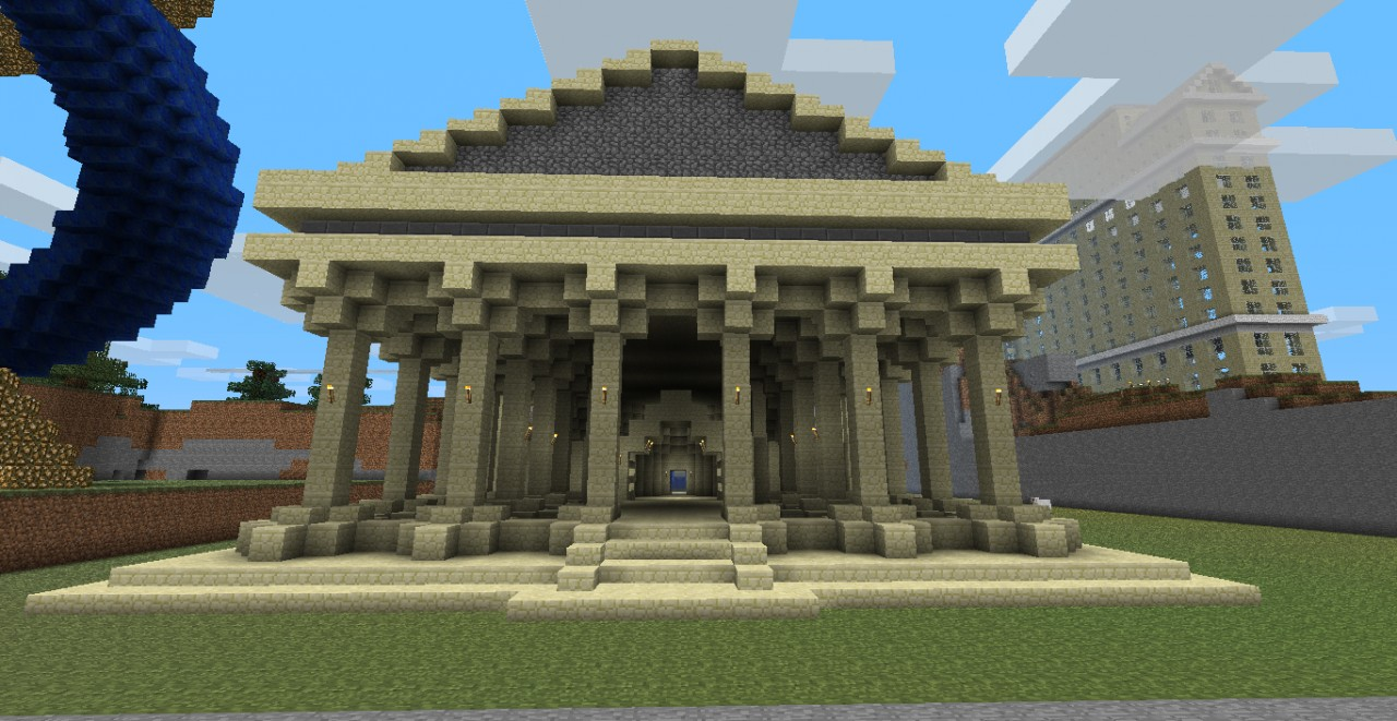 Greek Architecture Minecraft greek temple minecraft project