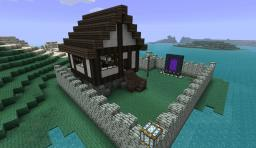 Private tudor house on natural island / penensula Minecraft Map & Project