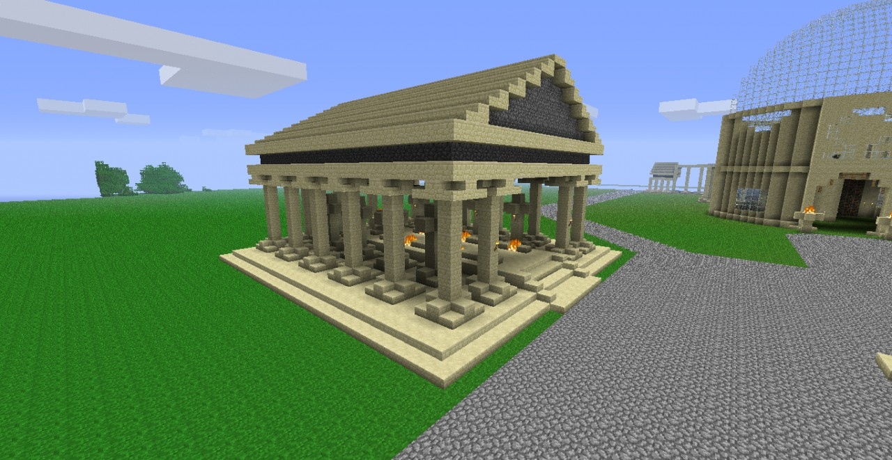 Greek Temple Small Minecraft Project