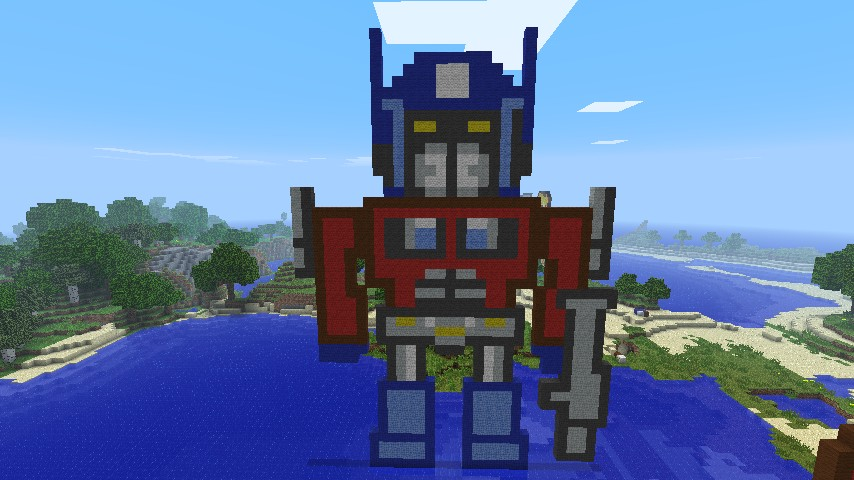 Optimus Prime Transformers Minecraft Project