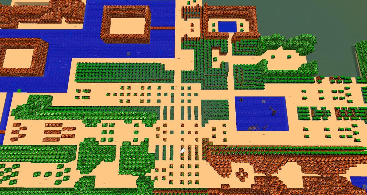 8-bit Hyrule (Legend Of Zelda) Minecraft Project