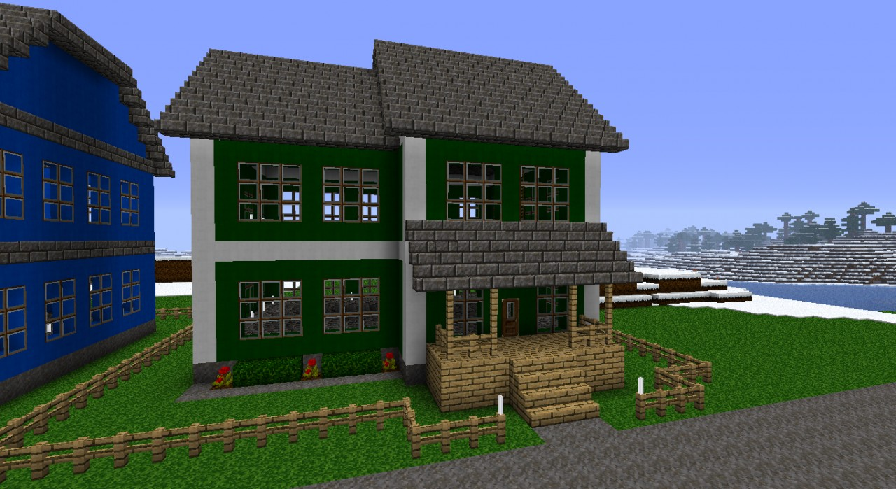 Green modern house minecraft project for Green modern homes