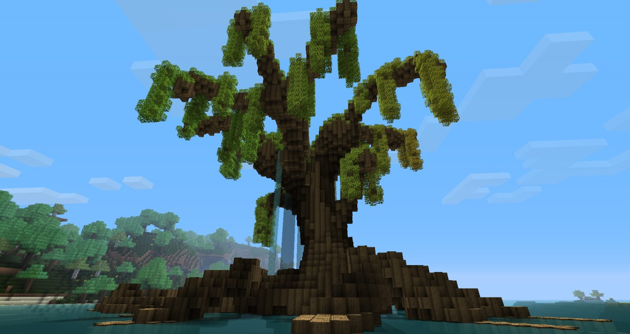how to get a big oak tree minecraft