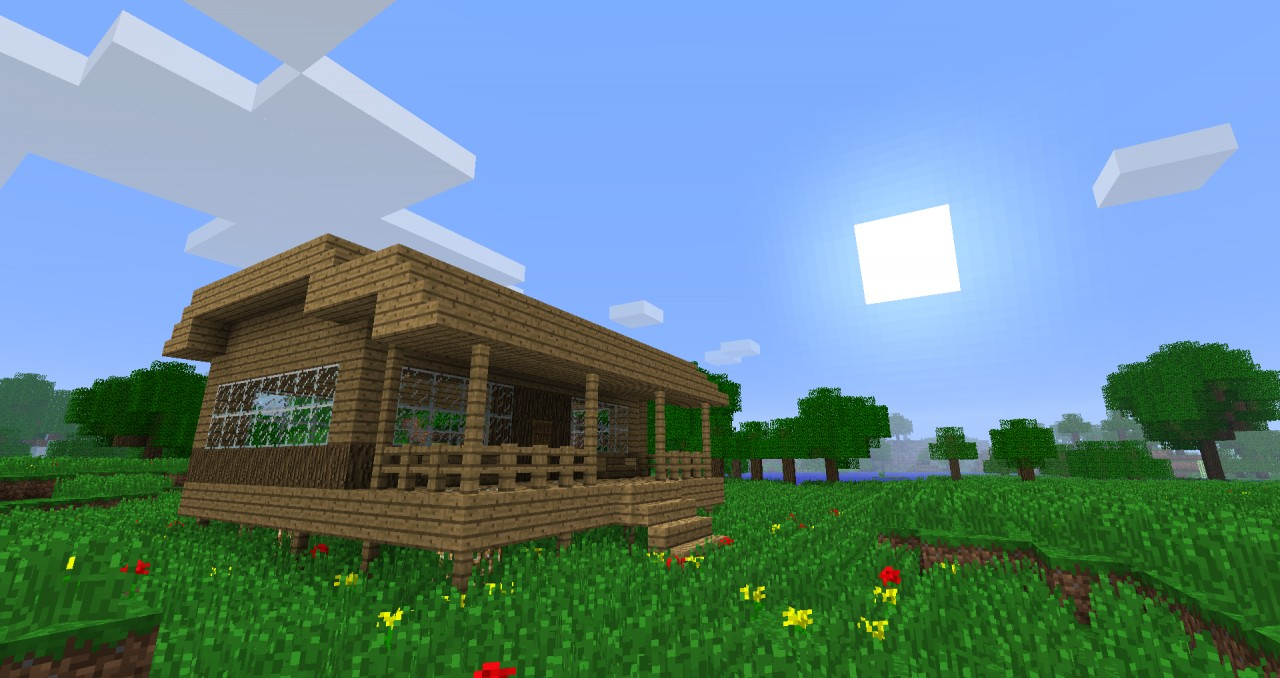 28 woodland hut small minecraft house 28 woodland for Small hut design