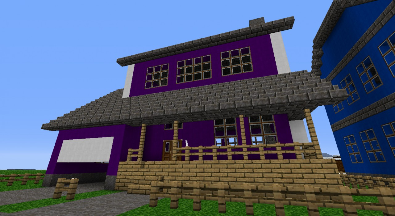 Purple Modern House Minecraft Project
