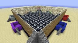 """""""The Colorful War"""" Clay Soldiers Arena Minecraft Map & Project"""