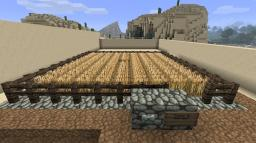 Modest Wheat farm with pistons v1 Minecraft Map & Project