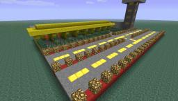 Airport with 2 runways, 8 hangers, 8 storage/ crafting centers, and an ATC tower. Minecraft Map & Project