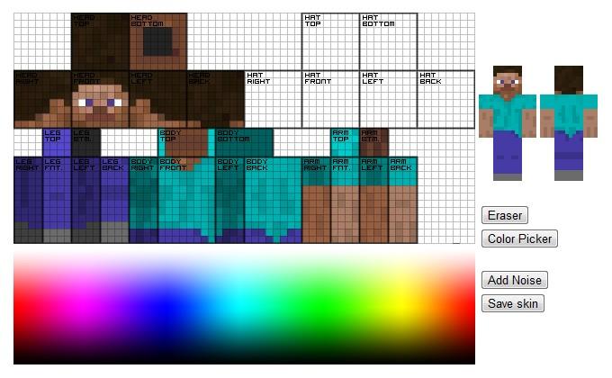 HTML5 Skin Editor Minecraft Mod: www.planetminecraft.com/mod/html5-skin-editor