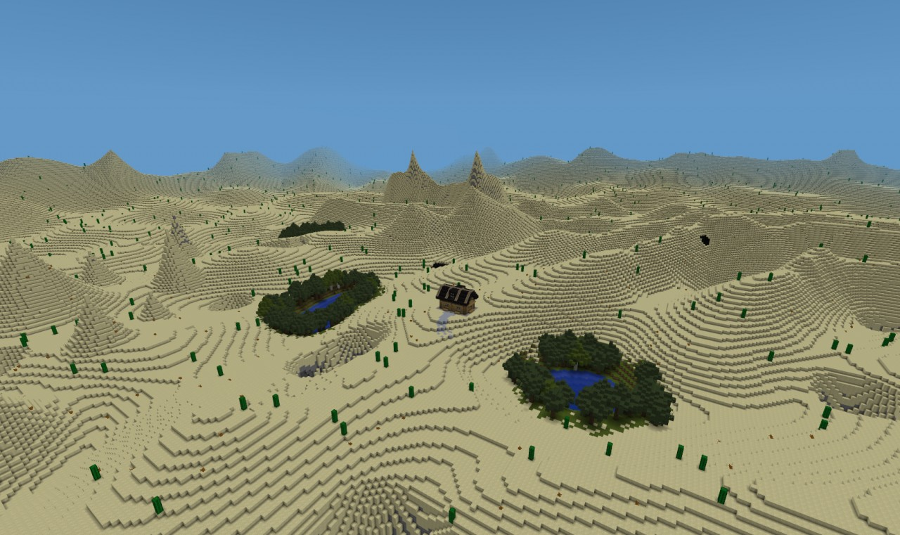 Custom Terrain Desert Expanse Minecraft Project