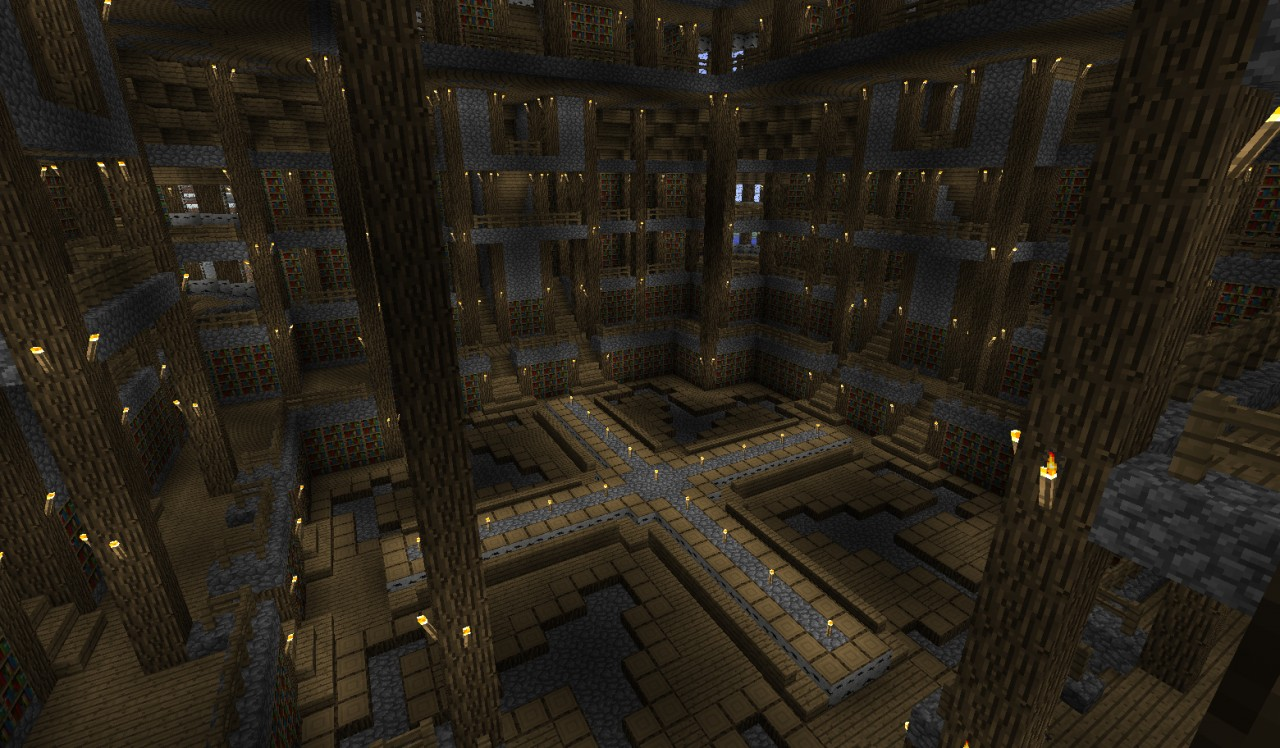minecraft how to make a library