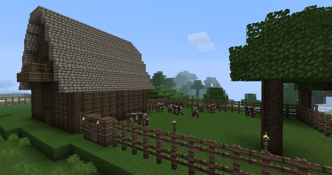 Farm Yard Barn Minecraft Project