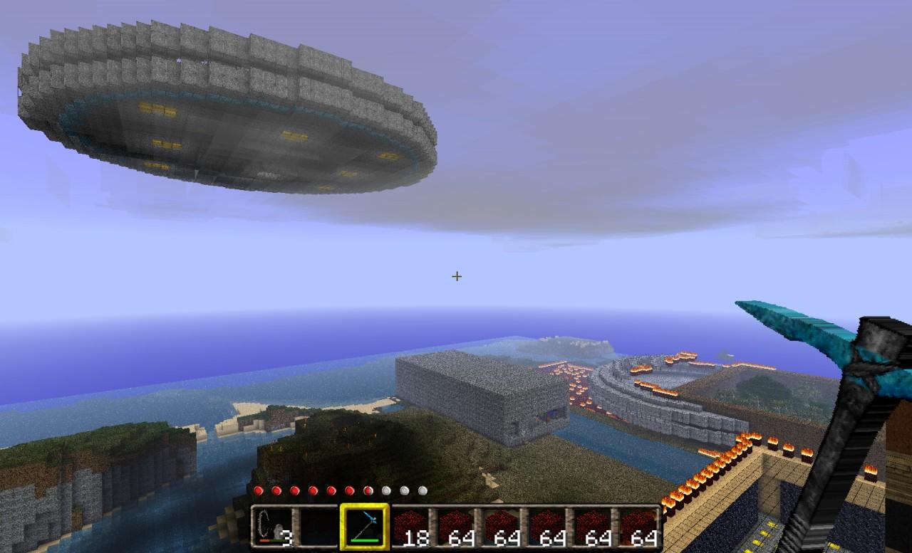 UFO & UFO Crash site Minecraft Project