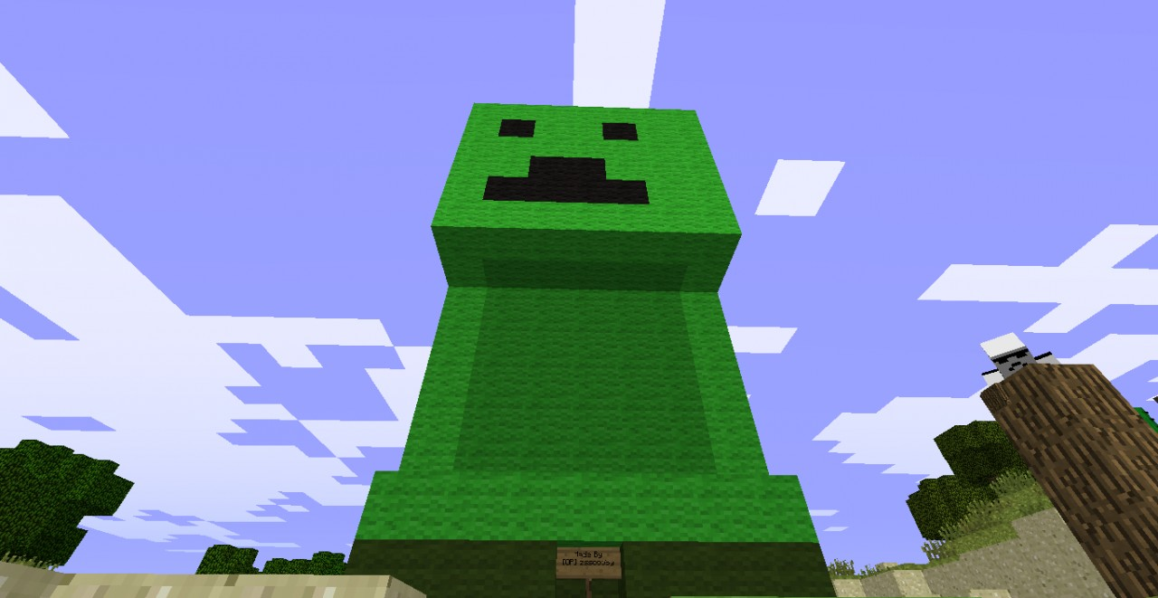 Baby Creeper in CreeperCraft Minecraft Project