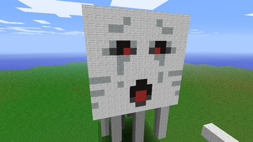 Minecraft Ghast Face Template