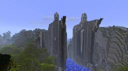 LOTR - Nen Hithoel (Argonath + Amon Hen) Minecraft Project