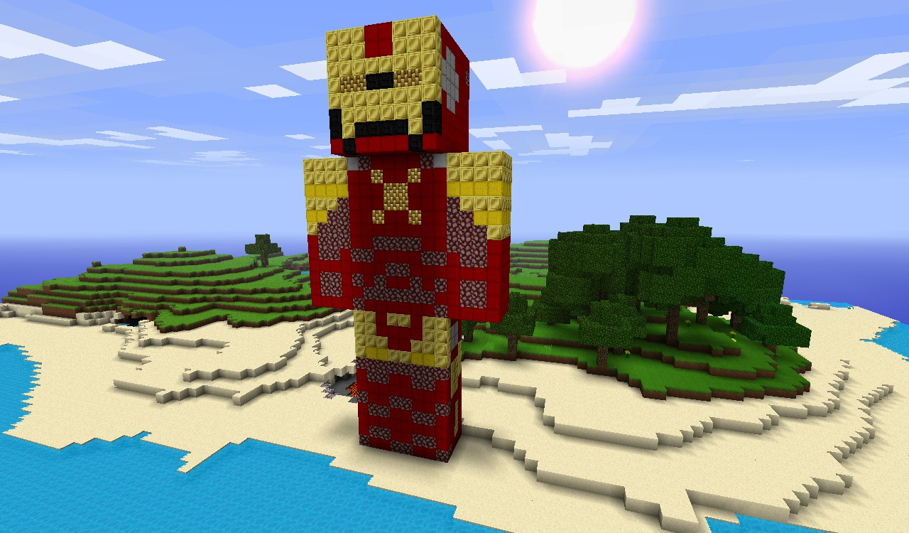 Great Pixel Art Map. This Is The Iron Man That Was Built