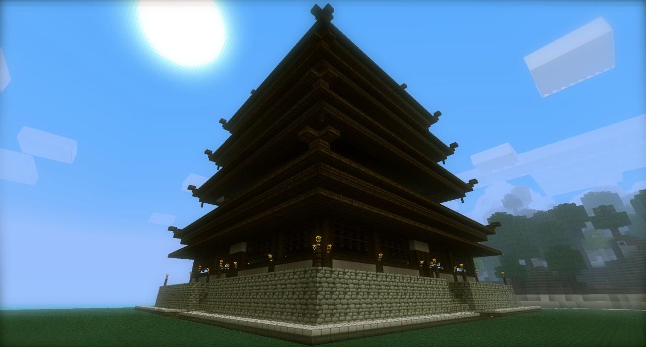 Japanese Styled Pagoda Minecraft Project