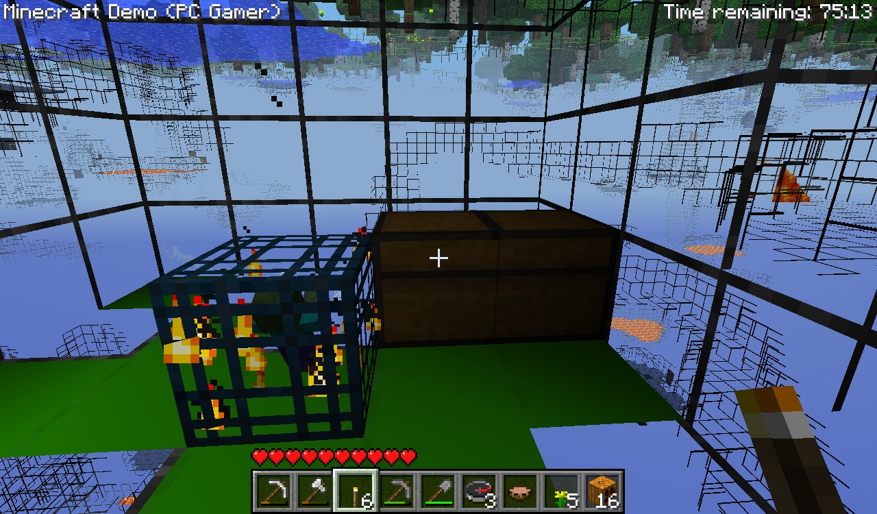 I Found A Dungeon With A Large Chest In It On The Minecraft PC Gamer - Skin para minecraft pc gamer demo