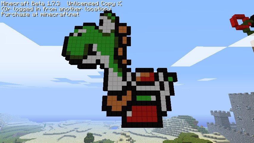 Yoshi from Mario Bros.! Minecraft Project