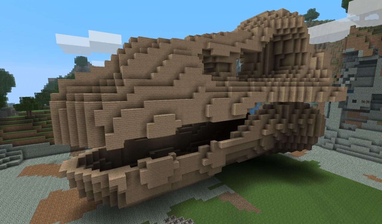 Dragon Dino Skull Minecraft Project