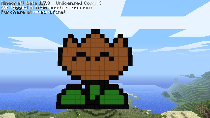 Fire Flower from Mario Bros! Minecraft Project