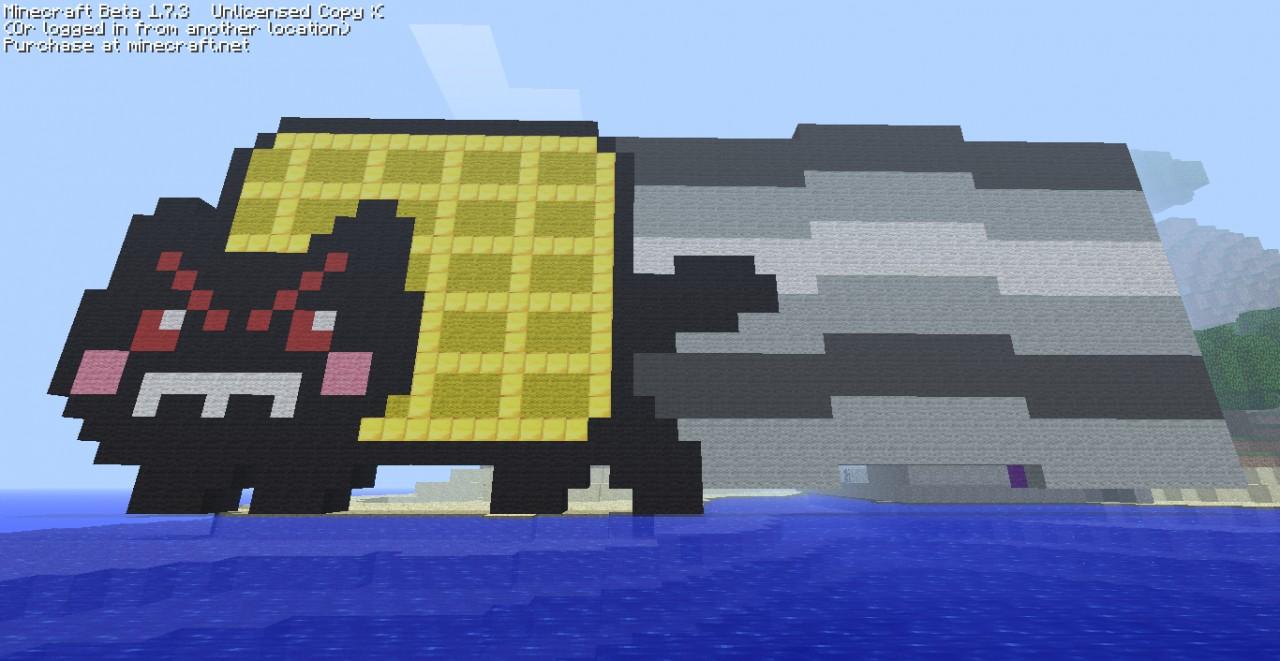 Nyan Cat/Tac Nayn Flipside Pixel Art Minecraft Project Evil Nyan Cat Minecraft Grid