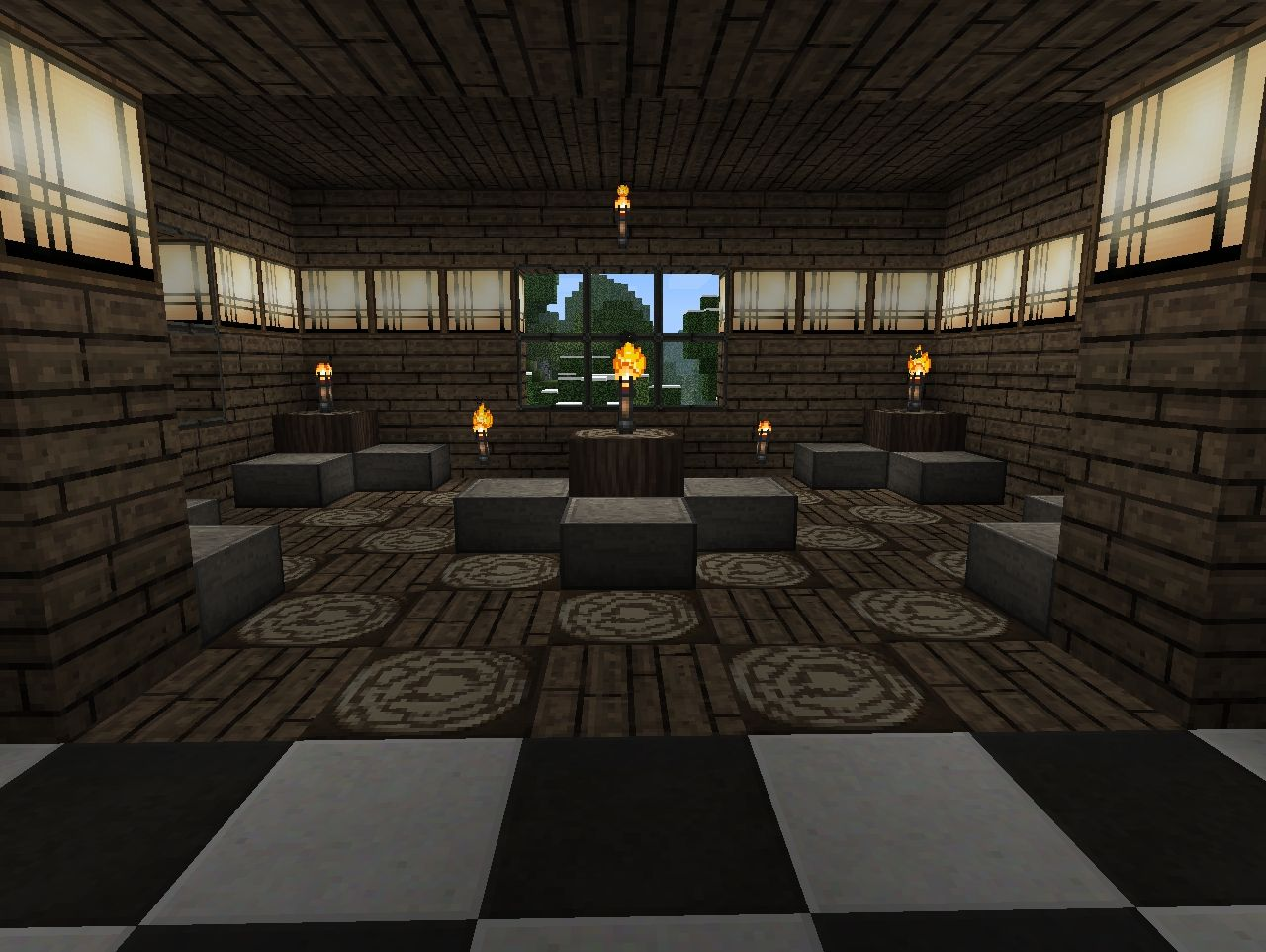 Awesome house for download minecraft project for Dining room minecraft