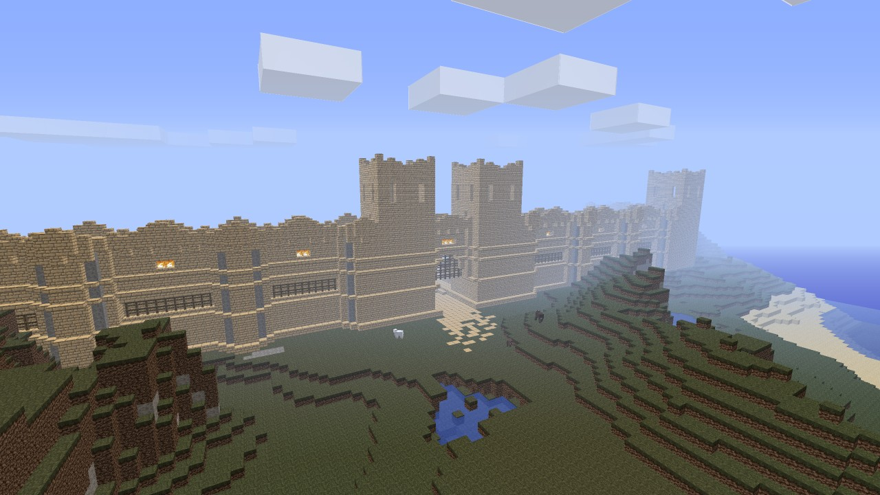 Minecraft Fortress Walls Arabian themed castle walls