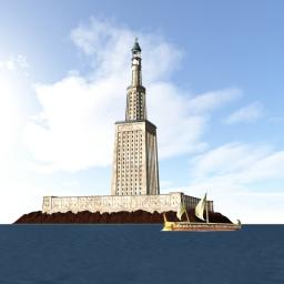 Lighthouse of Alexandria (JRNetwork Ancient Wonders of the World pt.1) Minecraft Map & Project