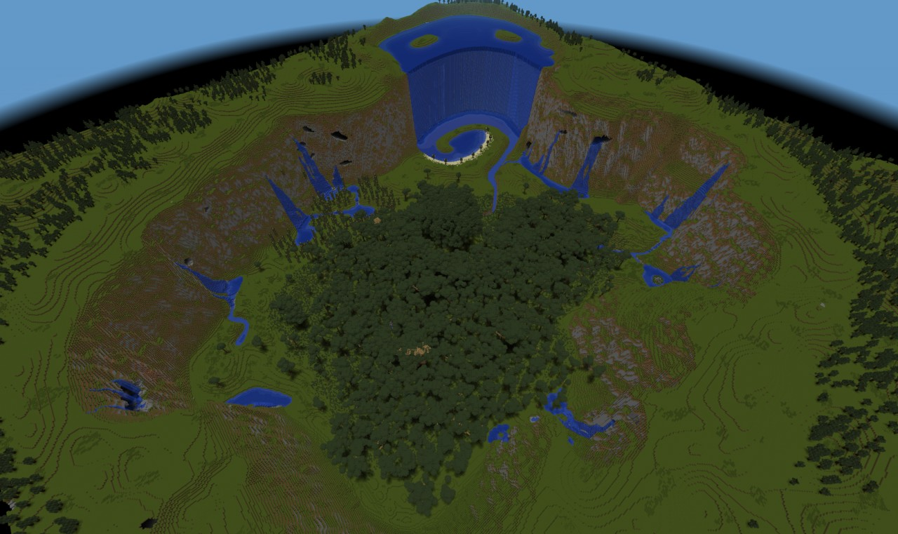 Custom terrain rainforest valley 10 update minecraft project view of the the whole valley gumiabroncs Gallery