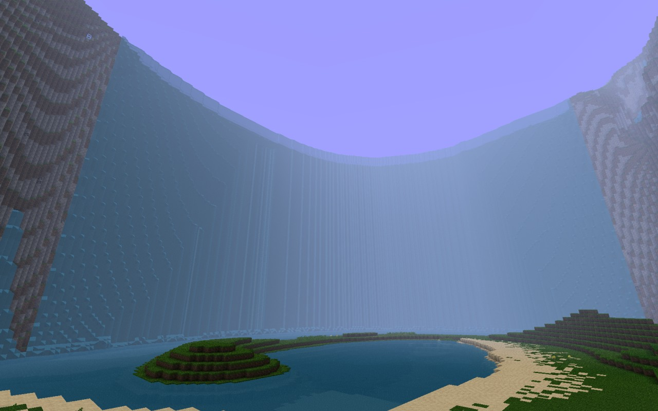 how to make waterfall in minecraft
