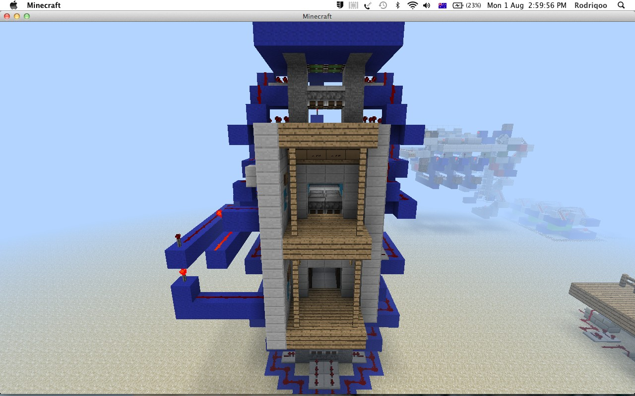 minecraft how to build a redstone elevator