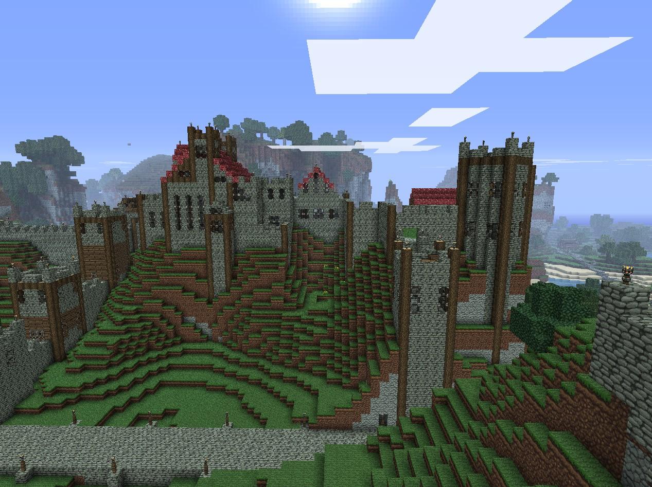 Minecraft Mountain Castle