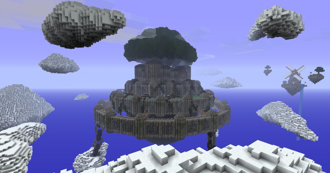 laputa castle in the sky wizard s citadel minecraft project
